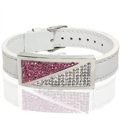 Genuine Leather Bracelet with CZ (Jewelry)  http://www.amazon.com/dp/B006MZOZWG/?tag=iphonreplacem-20  B006MZOZWG