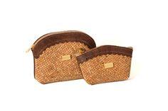 Cork zip coin purse and key holder - CALÇADA PORTUGUESA Wood P