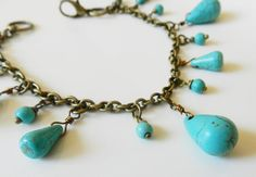 Turquoise bracelet, by romanticcrafts, $19.00
