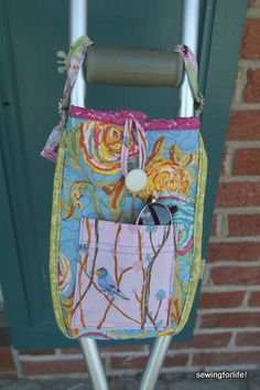 The Crutch Bag Project – Adding An Outside Pocket