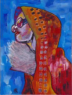 Winter-Fashiongirl -Original von *zeitgenössische kunst von maria-mercedes* auf DaWanda.com