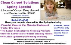This special good at Clean Carpet Solutions  until March 10~  ~~Lock in prices now ~~