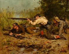 """Confederate Guerillas"" by Gilbert Gaul (1855-1919)"