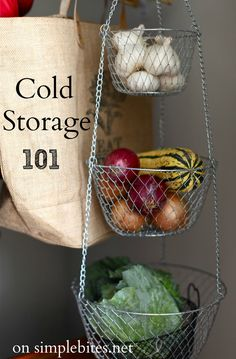 Cold Storage 101 - tips for storing root vegetables as well as cabbages, onions, pumpkin etc