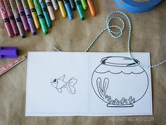 Fish Bowl Spinner...kids'll love this...FREE printable..link on for demo video...fun...