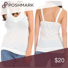 """S/M/L BESTSELLER! White soft tank These were a bestseller last season so I'm bringing them back for 2016. Softest tank ever!! Super comfy & casual. Wear under a hoodie, cardigan or even alone with some shorts or skinnies. Also Available in brown, blue or charcoal. Pics shown. 68% polyester 29% rayon 3% spandex. Small: bust is 16"""" across laying flat & 26"""" long. Medium: bust is 17"""" across laying flat & 27"""" long. Large: bust is 18"""" across laying flat & 28"""" long. Tops Tank Tops"""
