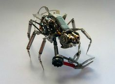 Justin Gershenson-Gates Creates Intricate Mechanical Insects With Dissected Watches Insect Sculptures by Justin Gershenson-Gates – Inhabitat - Green Design, Innovation, Architecture, Green Building