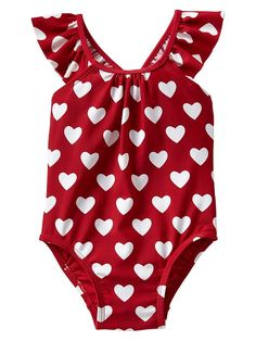 Printed Flutter One-Piece Swimsuit for Baby! Definitely on the wish list!!