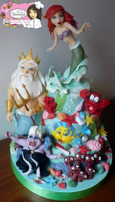 "ariel cake by ""Le torte decorate di Vincenza"""