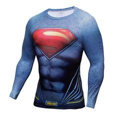SUPERMAN Compression Shirt for Men (Long Sleeve)