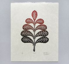 FROND 11 x 9 Woodcut Print on Natural Japanese Kitakata Paper  Paul Roden + Valerie Lueth, 2013.  Edition of 100  . . . . . . . . . . . . . . .