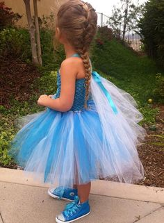 FROZEN DRESS  Frozen dress  Frozen Birthday  by SparkleToes3, $45.00 My Princess, Princess Party, Little Princess, Ribbon Tutu, Tulle Tutu, Frozen Theme Party, Frozen Birthday Party, Elsa Outfit, Frozen Elsa Dress