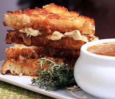 French Onion Soup Sandwich| Finding Vegan
