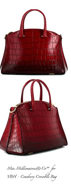 VBH - Cranberry Crocodile Bag