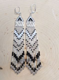 "Seed Bead Fringe Earringns "" Glass Mates"" Seed beaded earrings #Handmade #DropDangle"