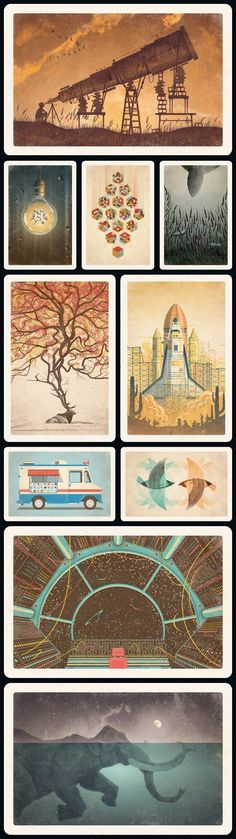 Illustrations from DKNG as postcards