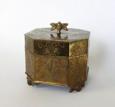 Vintage Brass Trinket Box by BeeHavenHome on Etsy