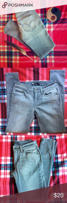 Levi's Legging Skinny Gray Jeans Grey Legging Levi's! Stretch Midweight Denim. Size 29 x 30. Levi's Jeans Skinny
