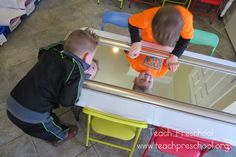 The Reflection Table by Teach Preschool