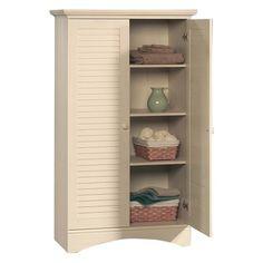 Have to have it. Sauder Harbor View Storage Cabinet - Antiqued White - $214.19 @hayneedle