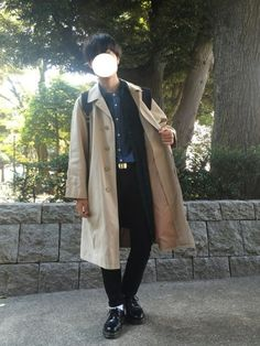 シャツ×シャツ×ステンカラーコート ゆーぴーくんのまねっこ〜 インスタchio2133よろしくで