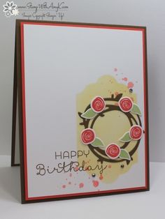 Swirly Bird Birthday Wreath