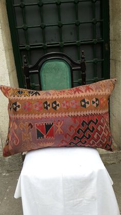 kilim pillowbig pillowvintage pillowkurdish by easternhandart