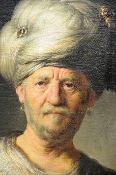 Rembrandt van Rijn - Man in Oriental Costume, Metropolitan Museum of Art, NYC Rembrandt Art, Rembrandt Paintings, Caravaggio, Dutch Golden Age, Dutch Painters, Dutch Artists, Portraits, Johannes Vermeer, Renaissance Art