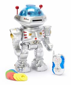 This Disc-Launching Remote Control Dancing Robot by AZ Trading and Import is perfect! #zulilyfinds