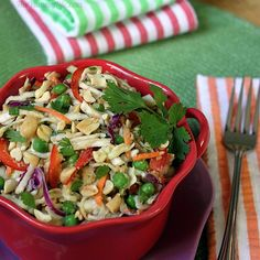 Thai Peanut Slaw Salad or Wrap  A 95 calorie, healthy main dish, side salad, or wrap filling. Vegan and gluten-free friendly, too.