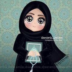 Hijab girly_m hijab ramadan Cartoon Girl Images, Girl Cartoon, Cartoon Art, Amira Draw, Dc Superhero Girls Dolls, Cute Images For Dp, Hijab Drawing, Baby Christmas Photos, Girly M