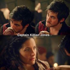 Milah's expression is all of us every time we see the 'devlishly handsome' Captain Hook! Haha.