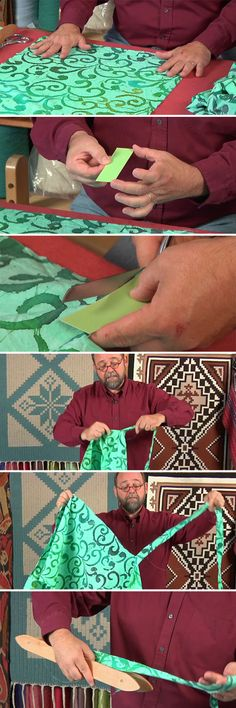 Tom Knisely demonstrates how to create rag strips for rug weaving in his workshop DVD Weave a Good Rug.