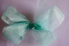 Hair Bow Tulle Turquoise Girls Boutique Hair Bow Tulle Hair Bow Girls Tulle Blue Hair Bow Boutique Tulle Hair Bow by RachelsHairBowtique on Etsy
