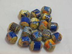 Paper beads- Recycled paper beads- Loose paper beads- Beading supplies- Jewelry Supplies- Upcycled paper beads- Barrel Beads by SunshineJStudio on Etsy