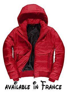 B075GZNTWX : B&C - Blouson - Manches Longues - Femme - rouge - X-Large.