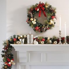 Battery Operated Pre lit Christmas Wreath with Timer