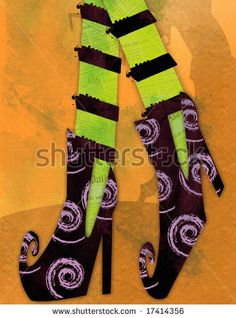 Free Witch Boot Template | Halloween Witch In Shoes Stock Photo 17414356 : Shutterstock