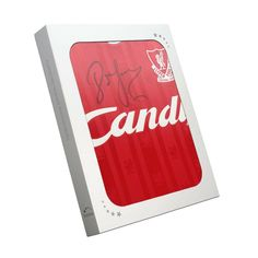 693677589 John Barnes Signed 1988-89 Liverpool Home Shirt In Gift Box