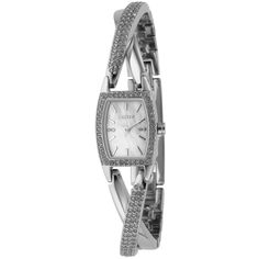 Dkny Women's NY4633 Classic Tonneau Silver-Tone Bracelet Watch (5.940 RUB) ❤ liked on Polyvore featuring jewelry, watches, mother of pearl, snap jewelry, dkny watches, wide strap watches, stainless steel watches and bracelet watch