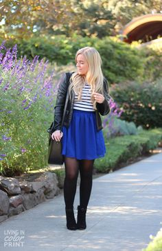 Cobalt + Stripes | Living In Color Print