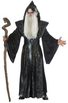 The Dark Wizard Adult Costume is the best 2019 Halloween costume for you to get! Everyone will love this Mens costume that you picked up from Wholesale Halloween Costumes! Best Mens Costumes, Cosplay Costumes For Men, Villain Costumes, Adult Costumes, Men's Costumes, Costume Ideas, Wizard Costume, Wizard Robes, Trendy Halloween