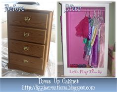 Furniture Fit for a Princess: Upcycled Dress Up Cabinet