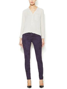 RICH AND SKINNY - Marilyn Crocodile Print Skinny Jean