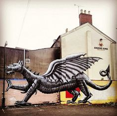Mural by 'Phlegm' for Empty Walls Festival 2013, Cardiff, Wales