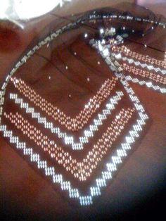Weaving Patterns, Diy And Crafts, Embroidery, Diamond, Silver, Jewelry, Needlepoint, Jewlery, Jewerly