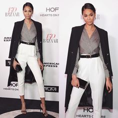 WEBSTA @ monicarosestyle - @chaneliman attends HARPER'S BAZAAR 150 MOST FASHIONABLE WOMEN event in @elisabettafranchi jumpsuit   jacket | @stellalunaofficial shoes | @jacquieaiche jewelry | @jimmychoo clutch | @moschino vintage belt #STYLEDbyMonicaRose #ChanelIman #bazaar150