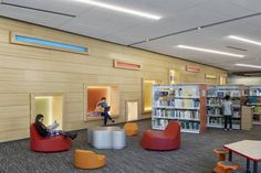 Brambleton Library | HGA; Photo: Paúl Rivera | Archinect Loudoun County, Experiential Learning, Study Rooms, Cozy Nook, Library Design, Learning Spaces, World Class, Working Area, Design Firms