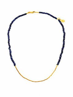 GURHAN - Rain Sapphire & 24K Yellow Gold Necklace