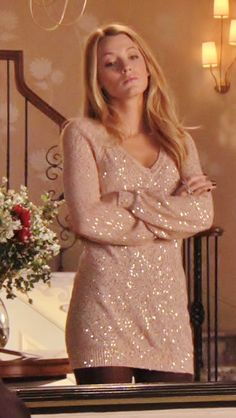 love her sequins sweater # sequins #gossipgirl. You can find similar ones at LuLu*s http://www.studentrate.com/StudentRate/all/get-all-student-deals/LuLu-s-Student-Discount--/0